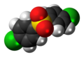 4,4'-Dichlorodiphenyl sulfone molecule spacefill.png