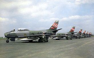 RCAF Station Grostenquin - Sabres of No. 421 Squadron at Grostenquin, 1957