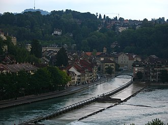 Hydraulic engineering - View from Church Span Bridge, Bern, Switzerland