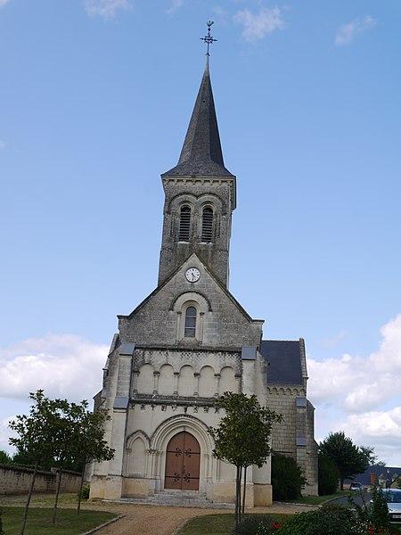 L'église Sainte-Radegonde.