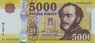 Hungarian forint - Image: 5000 HUF 2017 ob
