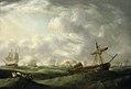 700 Loss of HMS Ramillies, September 1782 ship abandoned in abating storm.jpg