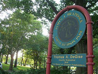 James J. Braddock - James J. Braddock North Hudson Park in North Bergen, New Jersey