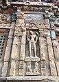 8th century Ardhnarishvara (left half Shiva, right half Parvati) at Virupaksha Shaivism temple, Pattadakal Hindu monuments Karnataka.jpg