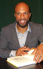 Photo of rapper Common at a book signing in 2011.