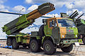 9A52-4 Smerch combat vehicle at Engineering Technologies 2012 01.jpg