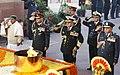 A. K. Antony and the Three Service Chiefs, General V.K. Singh, Admiral Nirmal Verma and Air Chief Marshal P.V. Naik paid tributes at the Amar Jawan Jyoti to mark Vijay Diwas.jpg