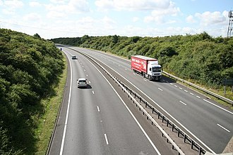 A1 road (Great Britain) - The A1 near Long Bennington, Lincolnshire
