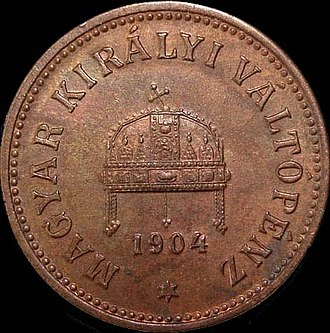 Coins of the Austro-Hungarian krone - Image: AH Kf 2 1904 obverse
