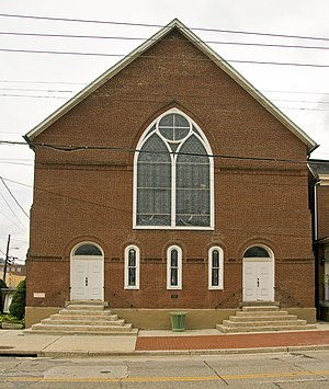 National Register of Historic Places listings in Allegany County, Maryland - Image: AME Church Cumberland MD1