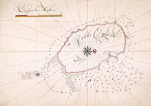 Robben Island - Dutch map of the island, from 1731.
