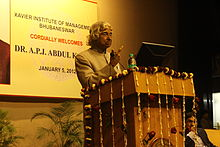 Bharat Ratna Dr. APJ Abdul Kalam taking oath from students of XIMB