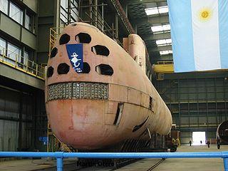1974-1997 Type 209-1200 submarine of the Argentine Navy