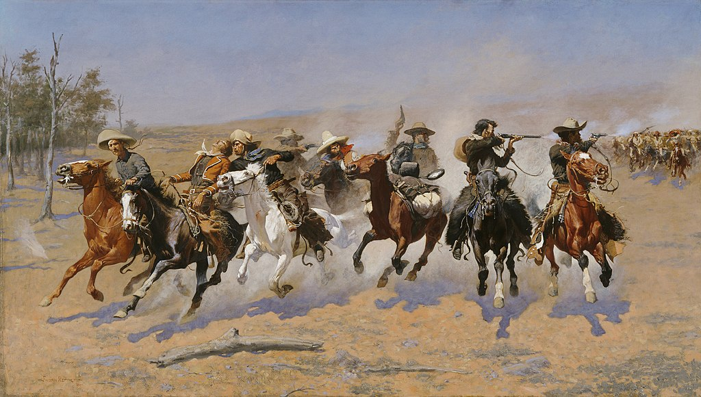 """A Dash for the Timber"" by Frederic Remington"