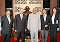 A European Parliamentary delegation led by the President, Mr josep Borrell with the Speaker, Lok Sabha, Shri Somnath Chatterjee in New Delhi on September 30, 2006.jpg