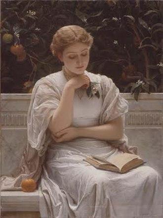 Charles Edward Perugini - Image: A Girl Reading.Charles Edward Perugini