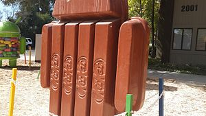 Kit Kat - A Kitkat bar statue in Googleplex Headquarters