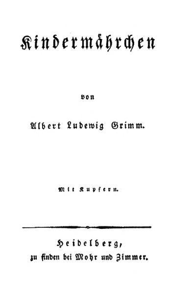 File:A L Grimm Kindermährchen.djvu