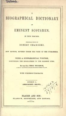 A biographical dictionary of eminent Scotsmen, vol 1.djvu