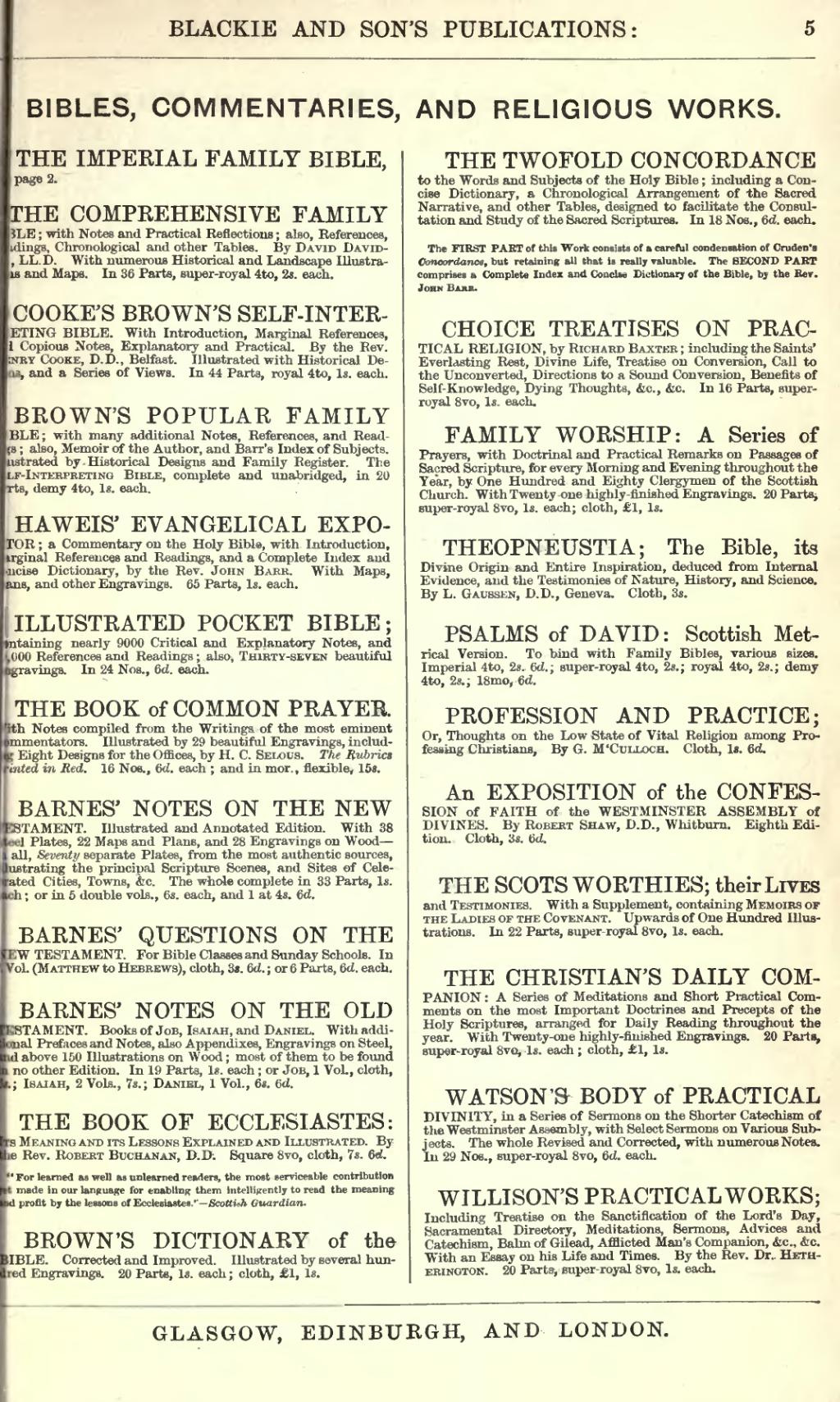 Individual commentaries
