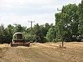 A combine harvester in field beside Hardley Street - geograph.org.uk - 1425335.jpg