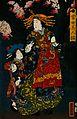 A courtesan promenading under cherry trees of the Yoshiwara, Wellcome V0046974.jpg