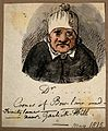 A doctor in a strange hat. Watercolour, 1815. Wellcome V0010924.jpg