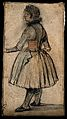 A girl standing. Coloured drawing, c. 1793. Wellcome V0009300EL.jpg
