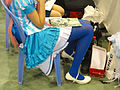 A girl with blue pantyhose 20131124.jpg