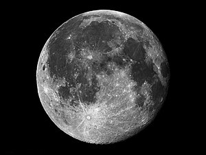 A full moon image.