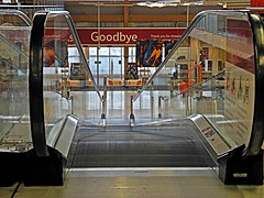 A moving walkway at Tesco Extra, Taw Vale, Barnstaple (geograph 3793486).jpg