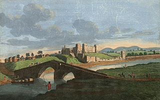 A north west view of Rhuddlan Castle, in Flint Shire