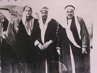 Prince Rashed Al-Khuzai - Al-Khuzai with his followers (supporters of Jordanian leaders) in 1933