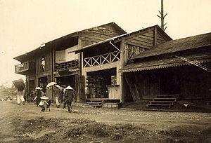 Da Lat - A street of Da Lat ca. 1925