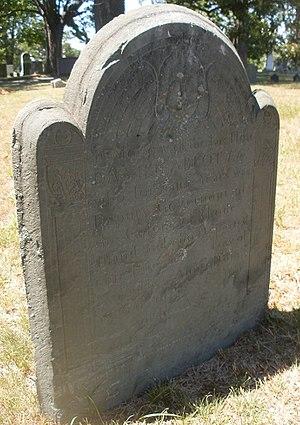 Daniel Abbott - Daniel Abbott grave marker, North Burial Ground, Providence