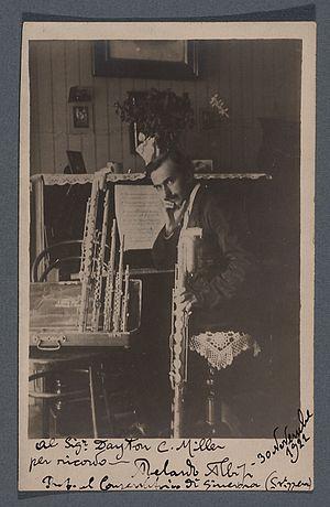 Abelardo Albisi - 1922 photograph of Abelardo Albisi