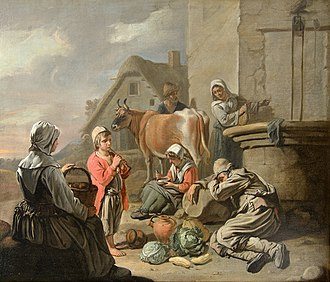La Salle University Art Museum - Image: Abraham Willemsens Peasants Resting at a Well