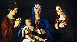 Giovanni Bellini: Madonna and the Child between Saints Catherine and Mary Magdalene
