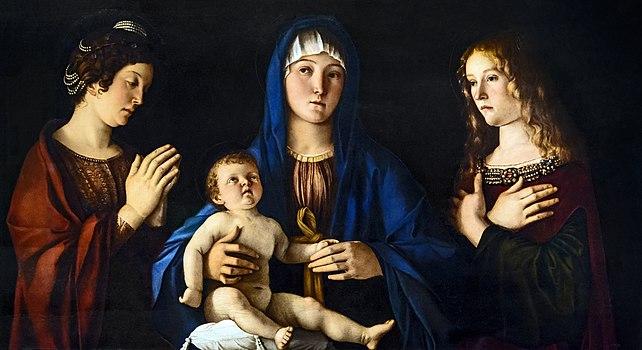 Accademia - Madonna con Bambino tra le sante Caterina e Maria Maddalena - Giovanni Bellini - Cat 613.jpg