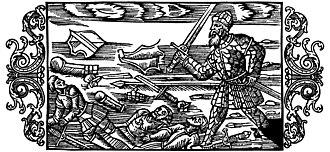 Starkad - Starkad in battle, from Olaus Magnus' Historia de gentibus septentrionalibus (1555).