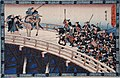 Act XI Fifth Episode (Actually Fourth)- Ronin Stopped from Crossing Ryogoku Bridge by Shogun's Representative LACMA M.66.35.60.jpg