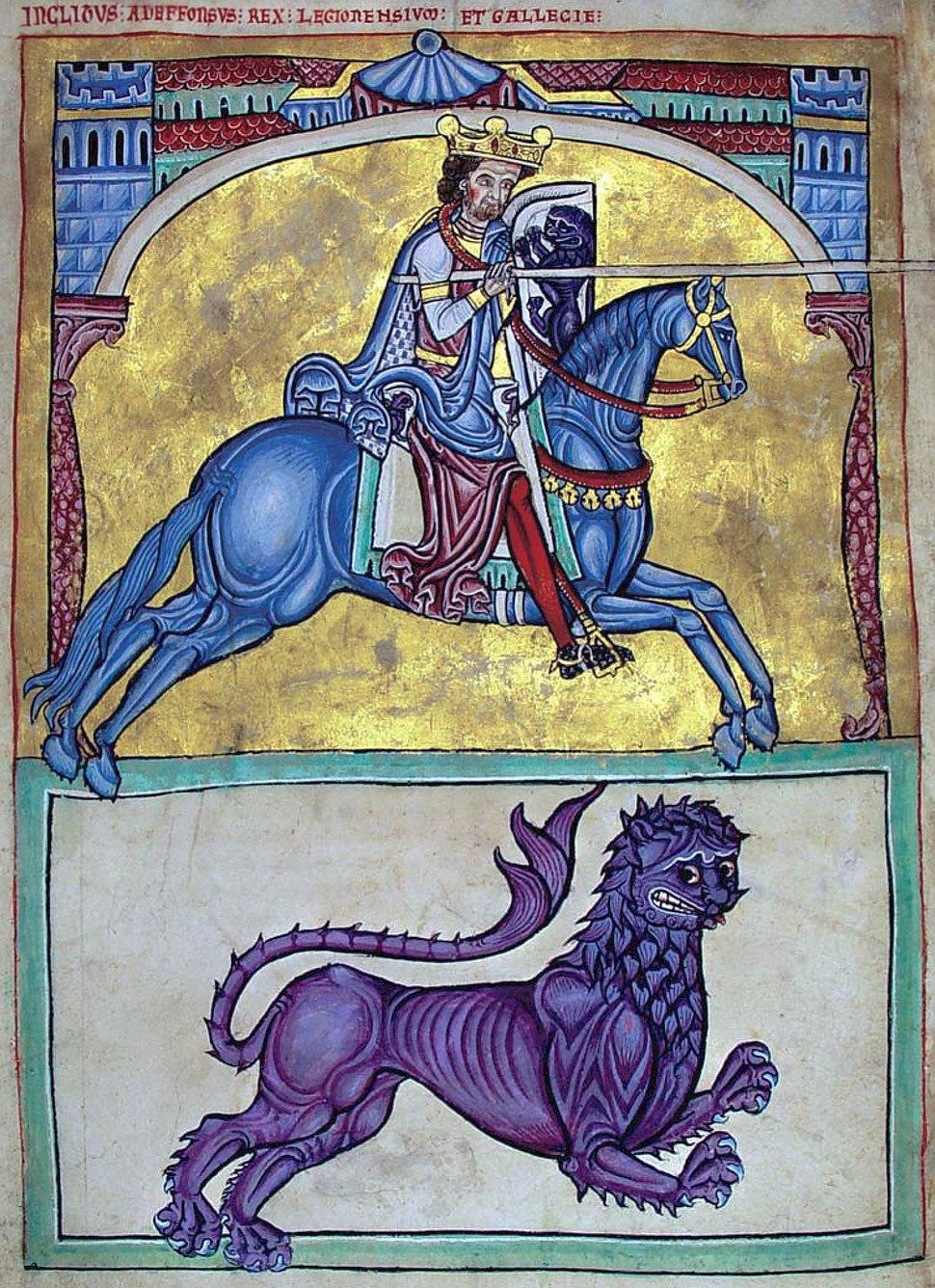 Adeffonsus rex legionensium et gallecie