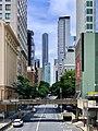 Adelaide Street, Brisbane looking east from ANZAC Square, 2020.jpg