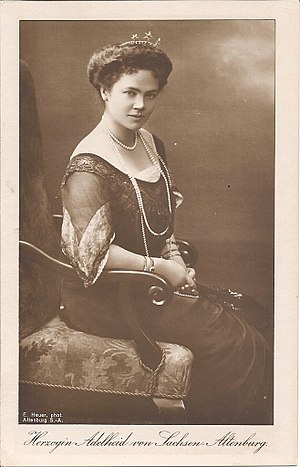 Princess Adelaide of Schaumburg-Lippe - Image: Adelaide of Schaumburg Lippe, duchess of Saxe Altenburg