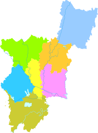 Xiaogan - Image: Administrative Division Xiaogan