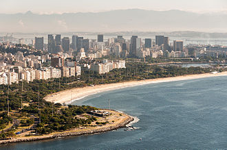 Downtown Rio, in the financial district of the city Aerial View of Flamengo 1.jpg