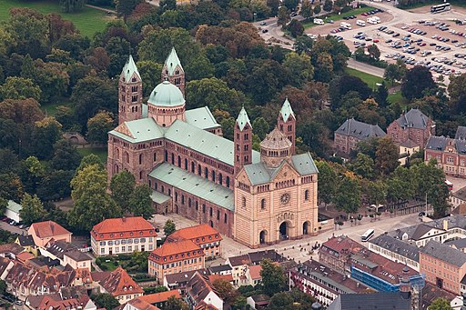 Aerial photograph Speyer Cathedral