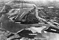 Aerial view of Falls of the Ohio and Locks and Dam No 41 circa 1930s or 1940s.jpg