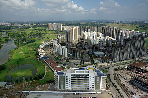 Aerial view of completed developments at Palava today
