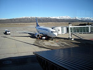 Aerolineas Argentinas B737-500 at Bariloche Airport